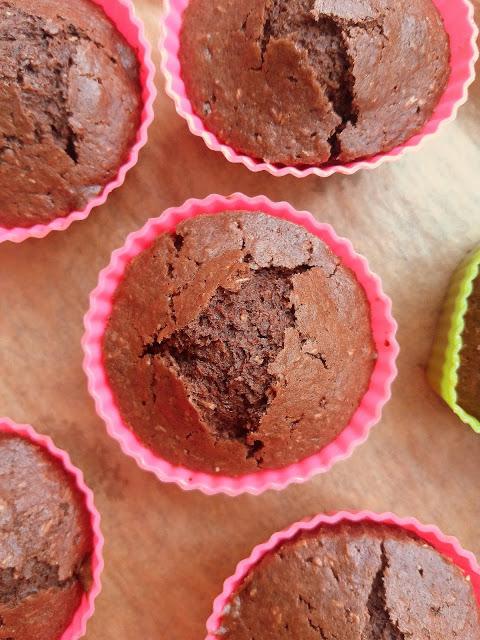 Czekoladowe muffiny z kokosem / Chocolate Coconut Muffins
