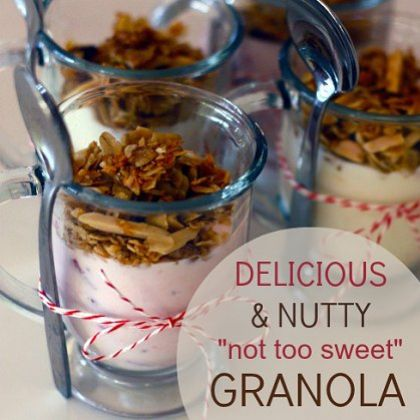 Delicious & Nutty Not-Too-Sweet Granola