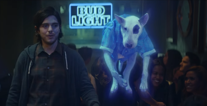 30 Years After Making His Debut At Superbowl XXI, Spuds MacKenzie Has  Returned (in Spirit) To A New TV Commercial For Bud Light.