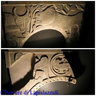 frammenti di lastre marmoree conservate nell'antiquarium