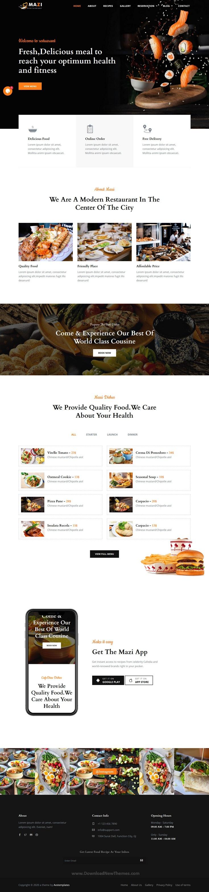 Fast Food & Restaurant Template