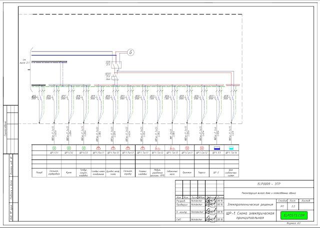 схема электроснабжения дома