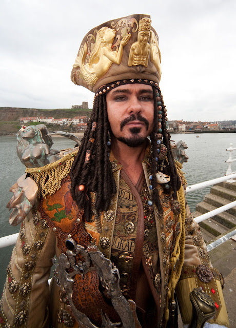 mens steampunk costume pirate hat vest coat fashion