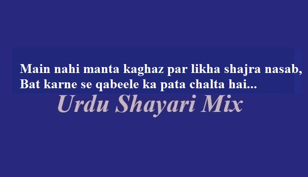میں نہیں مانتا, Attitude shari, 2 line poetry