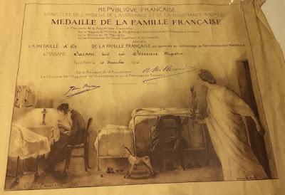 Diplôme de la médaille de la famille française
