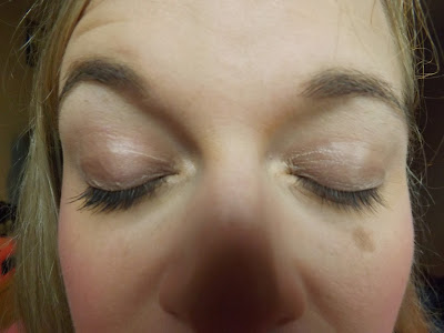mascara on lashed big volume.