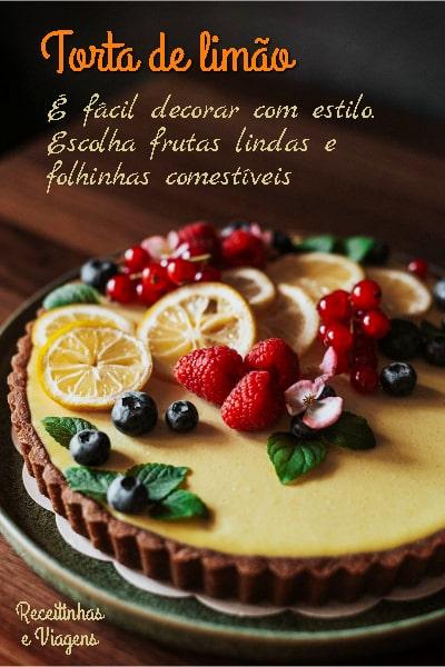 Torta de limao com massa de corn flakes ou sucrilhos
