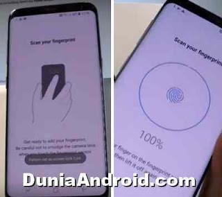 mengatur fingerprint galaxy s8