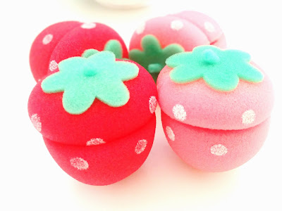 adorable strawberry hair curlers
