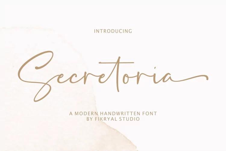 Secretoria Font - Free Romantic Script Typeface