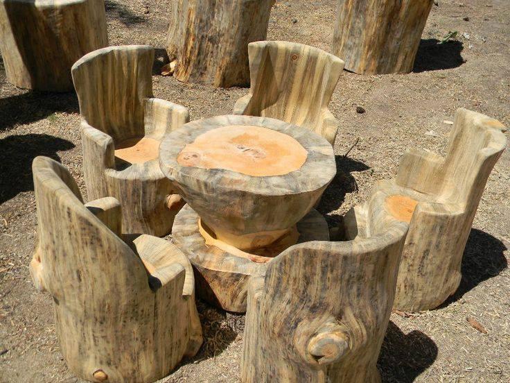 Muebles construidos con troncos de madera construccion y - Hazlo tu mismo muebles ...
