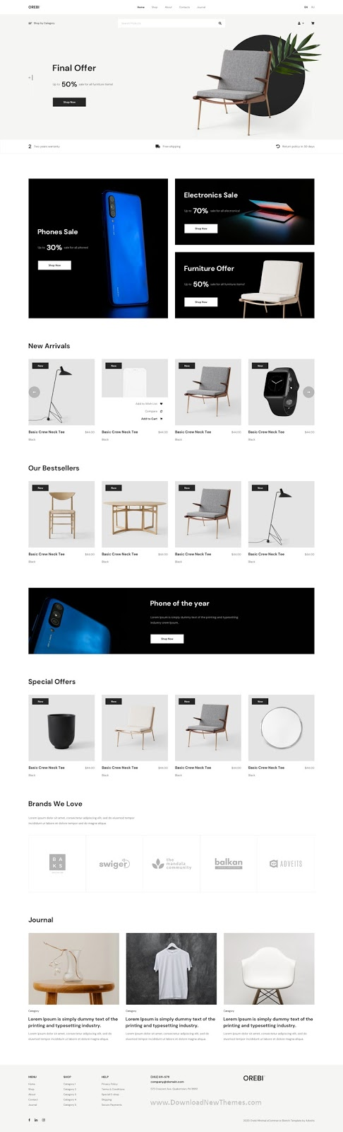 Download Minimal eCommerce Adobe XD Template