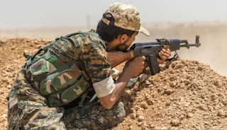 Rekaman Video Perlihatkan Pertempuran Sengit Antara Pejuang Suriah Melawan Sdf