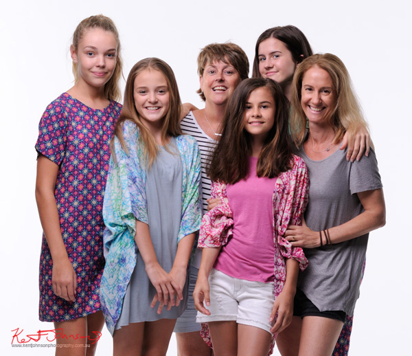 Thats a wrap, the four models and two mums on set. Tween to Teen Fashion - Look-book & Branding Photography