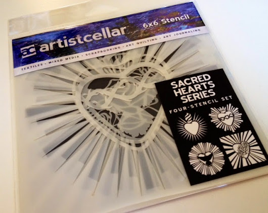 NEW Sacred Hearts Series stencils from Artistcellar and a GIVEAWAY!