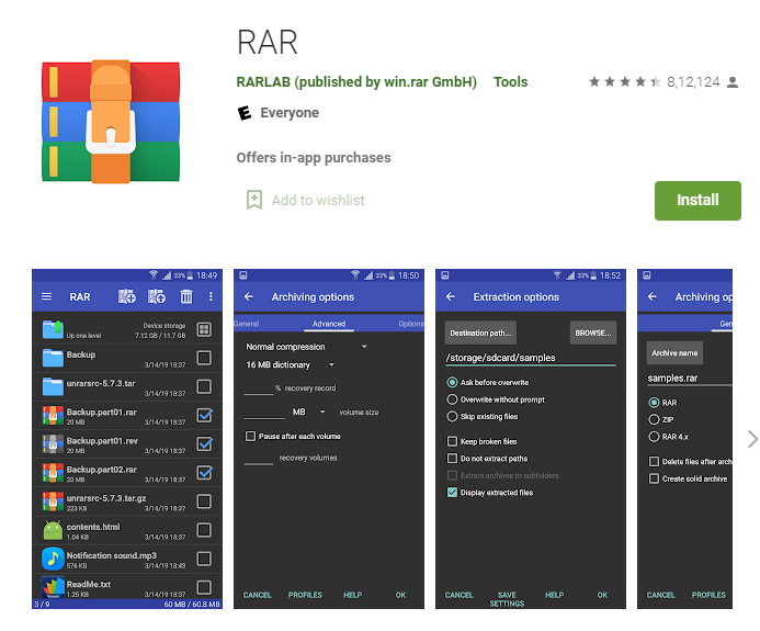 file compression apps for android