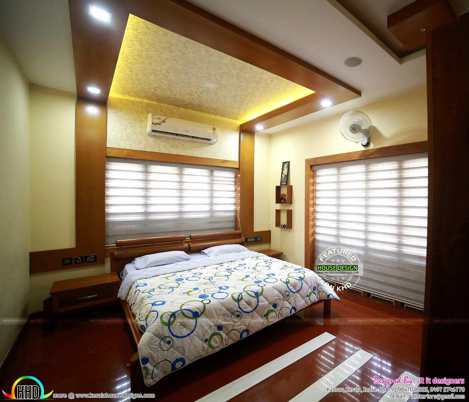 Interior Design Bedroom Kerala Style Bedroom Decor Dark Furniture Bedroom Ideas Rectangular Rooms Boys Bedroom Colour Ideas: Finished Home, Floor Plan And Interiors