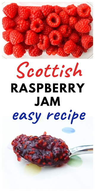 Scottish Raspberry Jam - An easy recipe for a delicious Scottish raspberry jam, with printable recipe and tips. #raspberryjam #homemadejam #berryjam #easyraspberryjam #raspberryconserve #raspberrypreserves