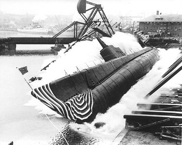 USS Peto being launched on 30 April 1942 worldwartwo.filminspector.com