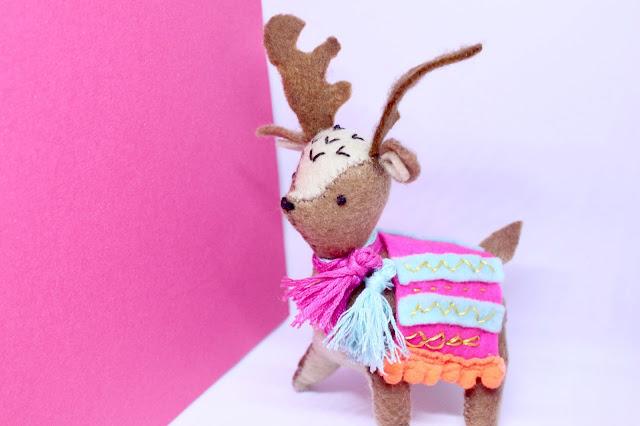 Mollie Makes Felt Reindeer DIY Christmas Decoration