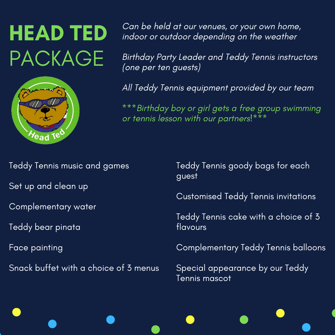 Teddy Tennis Muscat Oman kids activities birthday party