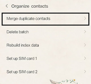 Pengaturan merge contact xiaomi