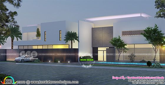 Modern flat roof luxury home 500 square meter