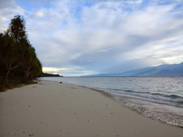 White sandy beach in Mansinam island