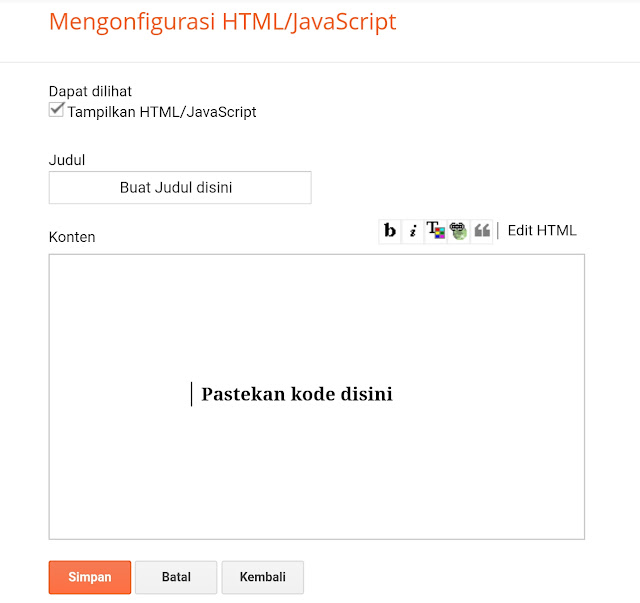 blanko kosong untuk widget HTML JavaScript