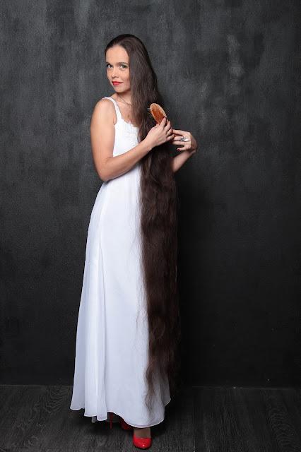 Beautiful women with long hair - Floor Length Hair