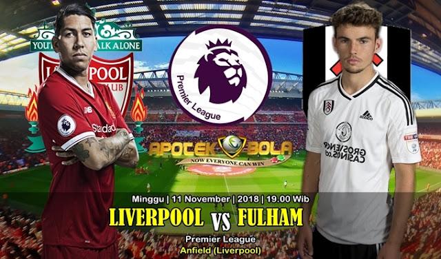 Prediksi Liverpool Vs Fulham 11 November 2018