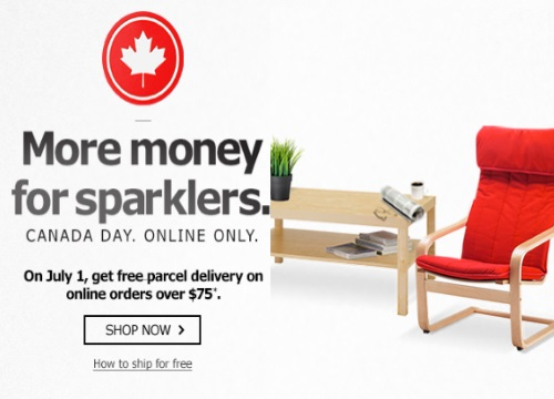 IKEA Canada Day Free Parcel Delivery