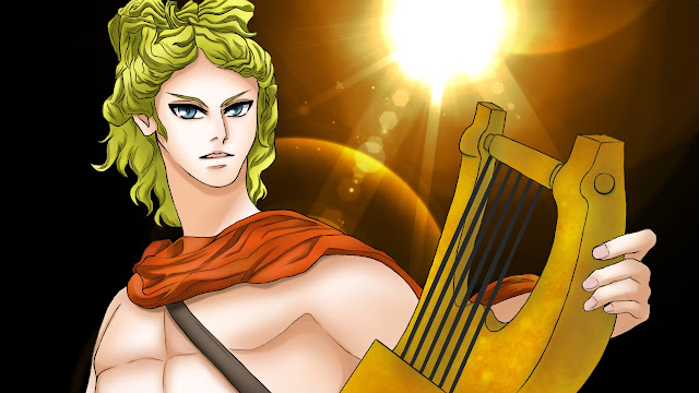 ギリシャ神話の『アポロン(アポローン)』のイラスト