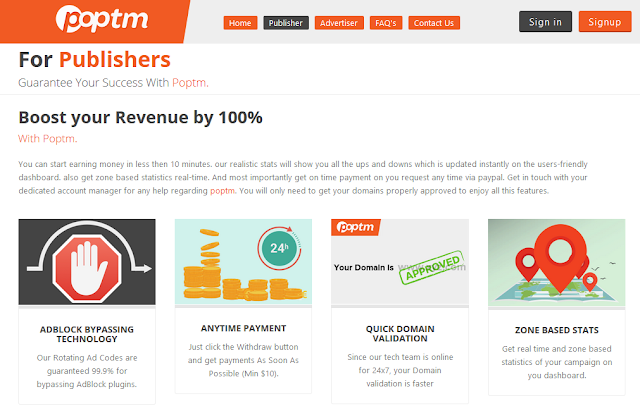 cara kerja PopTM dan bukti pembayaran dari PopTM