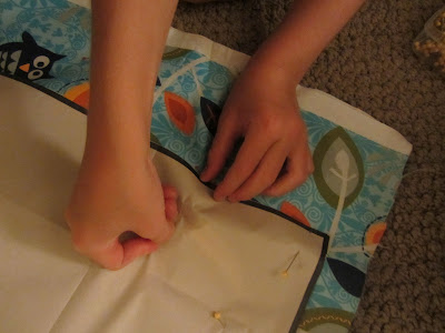 Learning to use a sewing pattern