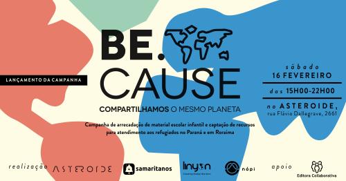 bbee2226efa66 BE CAUSE - CAMPANHA DE AJUDA HUMANITÁRIA