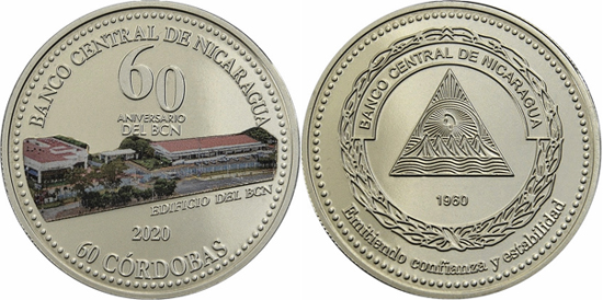 Nicaragua 60 córdobas 2020 - 60th Anniversary of the Central Bank