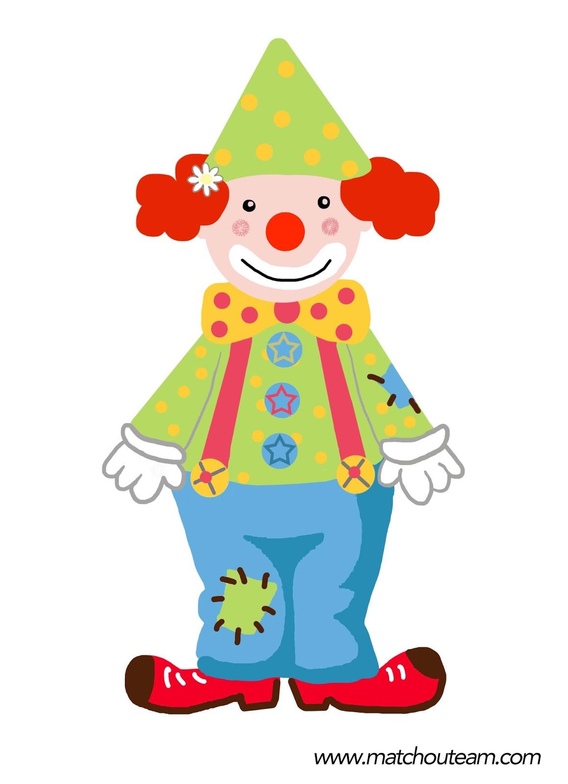 jeu maternelle clown