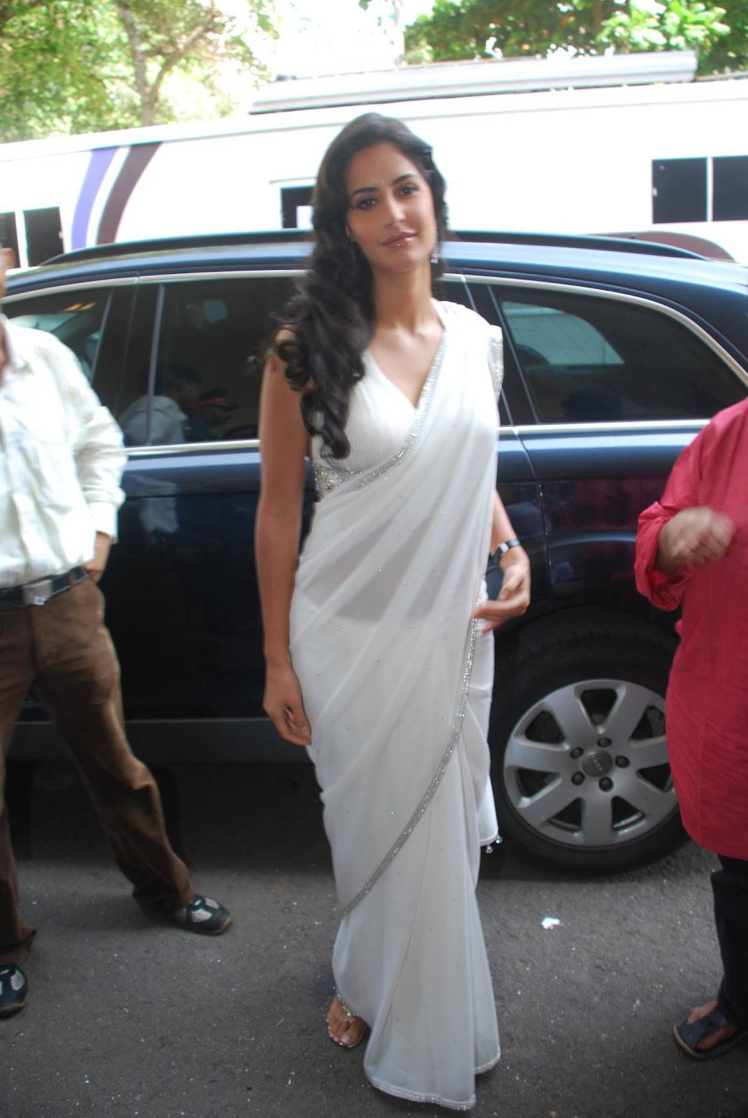 Katrina Kaif Latest Stills In Hot White Saree
