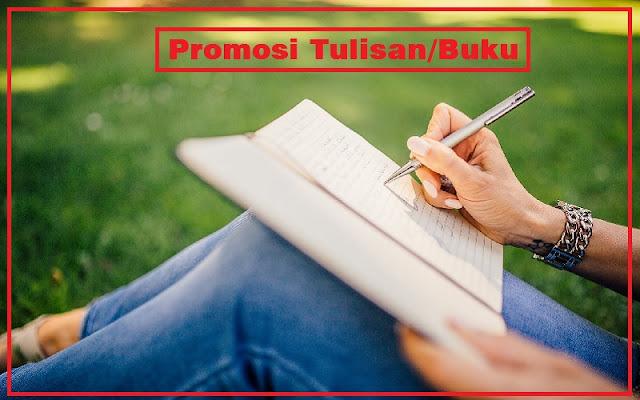 promosi buku dan tulisan
