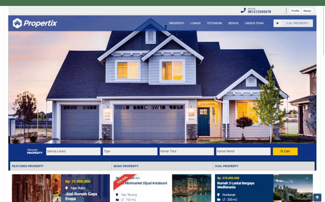 membuat website properti