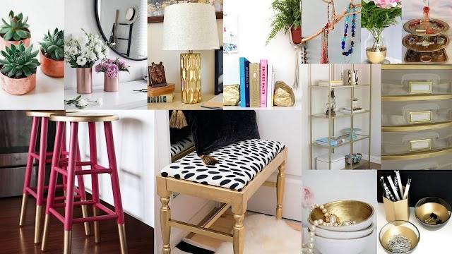Εύκολες και οικονομικές κατασκευές με μεταλλικά χρώματα σε σπρέϊ