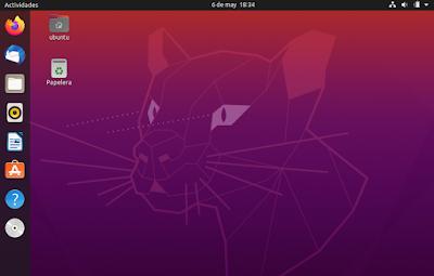 Escritorio Ubuntu 20.04 LTS
