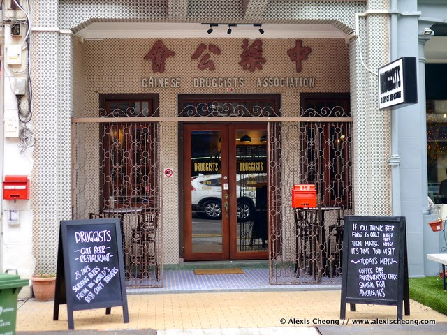 alexis blogs: Beer on Tap: Druggists at 119 Tyrwhitt Road, Singapore 207547