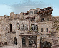 Aydinli Cave Hotel is situated at the top of the ancient village in Goreme was opened in 2008. The 14 suites are carved from traditional stone and natural rock. Natural décor is used in the rooms and some parts of the cave resemble 750 years old constitution