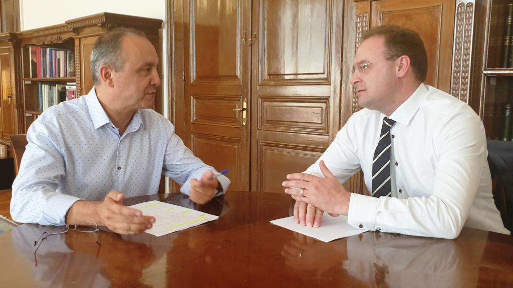 Συνάντηση Στ.Βαλιάνου με τον Υφυπουργό Εσωτερικών αρμόδιο για Μακεδονία-Θράκη Θ.Καράογλου