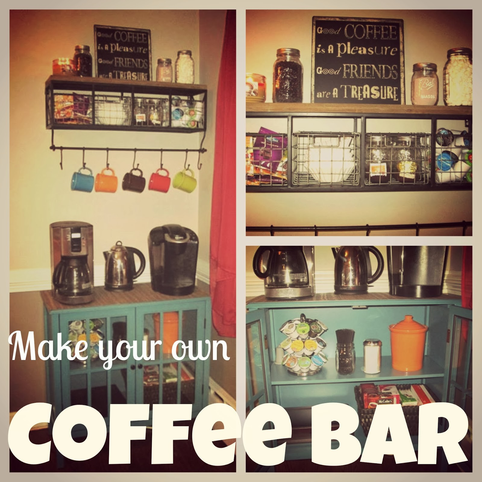 Laura 39 s plans make your own coffee bar for Coffee bar station