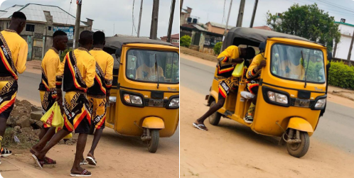 Social Media Users Reacts to Trending Photo of Boys Dressed In Matching Head-To-Toes Outfit