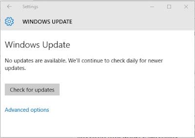Update OS (sistem operasi) Windows