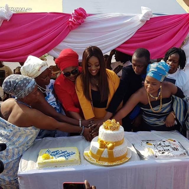 Photos : Jackie Appiah Celebrates Birthday With Widows At Krobo